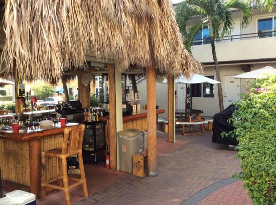 Caribbean Resort By The Ocean View Of Tiki Bar
