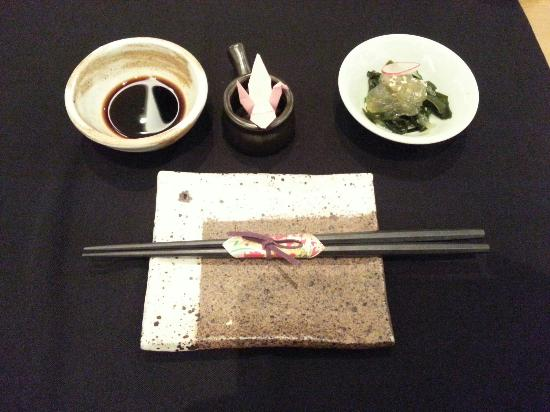 Table set - Picture of Hatsune Japanese Restaurant (Guanghua Road ...