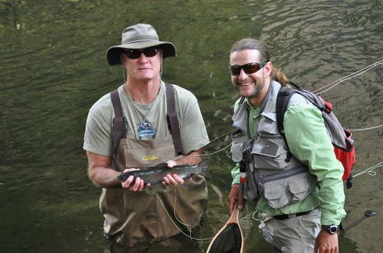 Nice native rainbow caught while fly fishing the merced for Fishing in yosemite