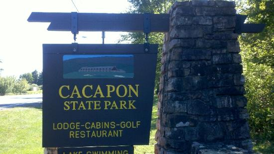 Cacapon Resort State Park: Cacapon Stone Sign