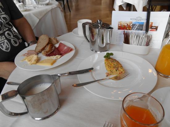 Hotel Schweizerhof: Café da manhã