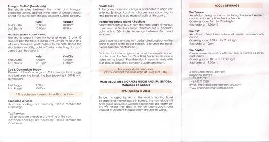 Sofitel Singapore Sentosa Resort & Spa: Resort Info