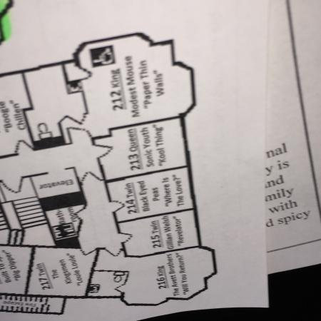 Crystal Hotel : Map of second floor.