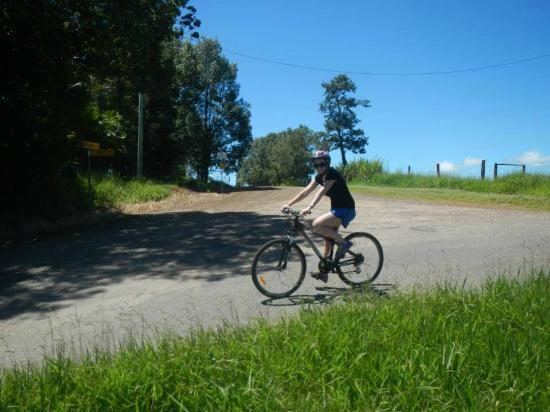 On the Wallaby Lodge : Shannon on her bicycle