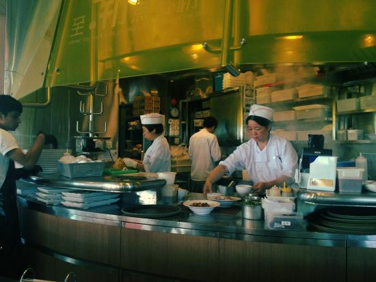 The open kitchen of Tsui Wah on the Peak - Picture of Tsui Wah ...