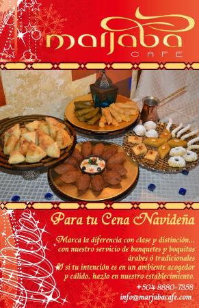Marjaba Cafe: Christmas dinner party!