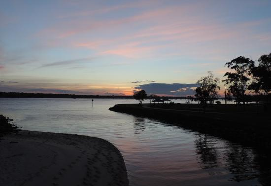 "Bongaree, Australia: sunset opposite ""on the bay resort"" 2013"
