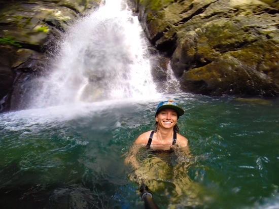 La Mina Falls: enjoying the refreshing water