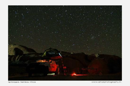 Spitzkoppe Campsites : night view at campsite 5
