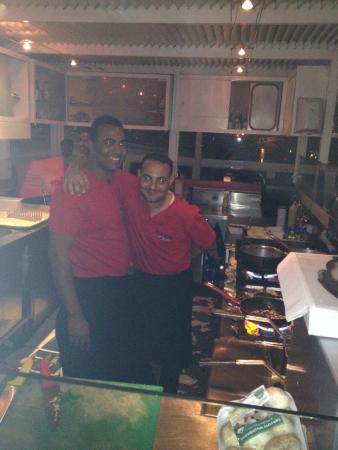 Pier88 Restaurant & Lounge : Chef Mustafa and his Assistant
