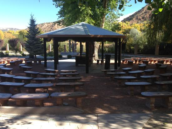 Sanctuario de Chimayo: An outdoor worship area for crowds too large for the small sanctuary