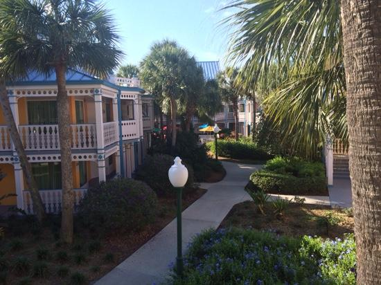 Disney S Caribbean Beach Resort Walk To Car Park And Bus Stop