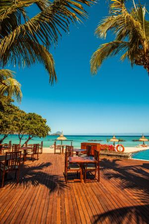 Sands Suites Resort & Spa: View on Tamarind Bay and Le Morne Mountain