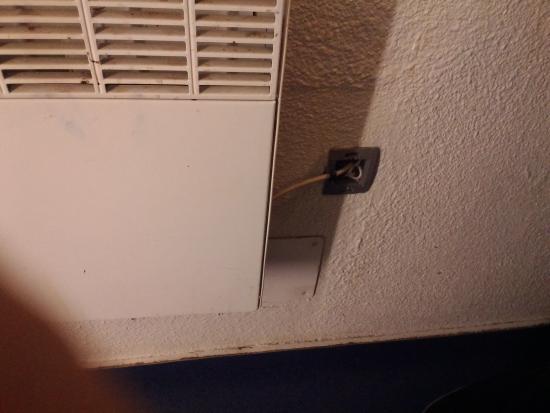 hotelF1 Cergy Pontoise St Martin: la propreté du chauffage et l'électricité douteuse