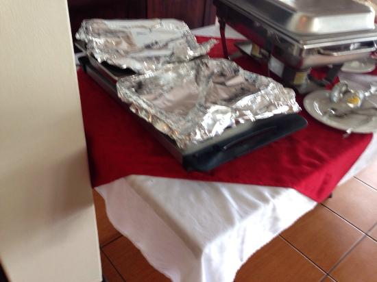 The Boathouse: Food covered in foil