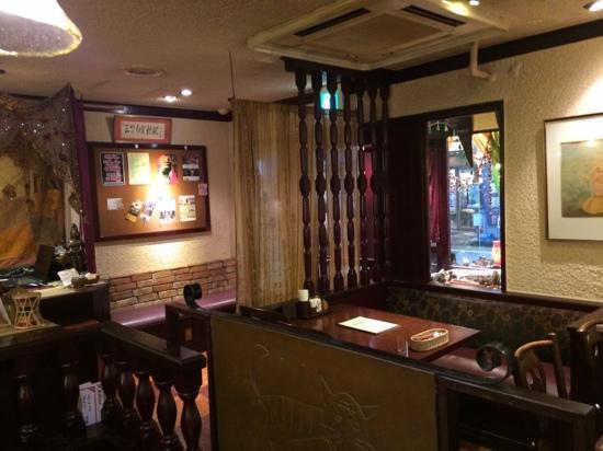 Shinjuku Bombay: inside the restaurant