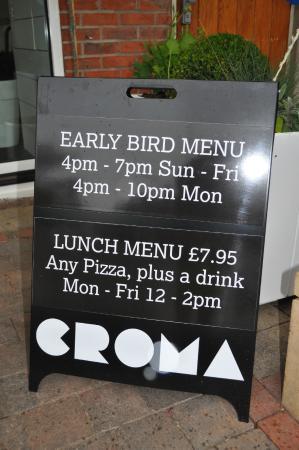 Early bird dinner deals manchester