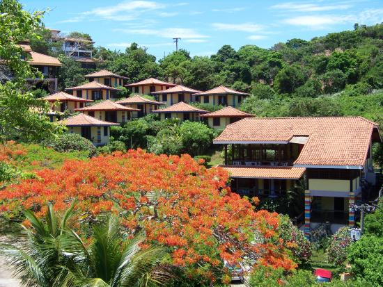 Pousada Hibiscus Beach: Panoramic view of hotel