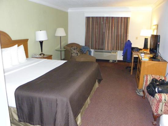 Best Western Augusta West: room with a king bed...