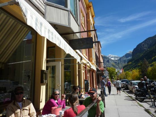 The Butcher & Baker Cafe : Exterior of The Butcher and the Baker in Telluride.