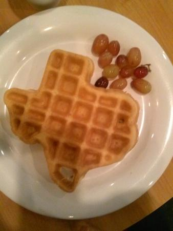 Crockett Hotel: You're in Texas, how could you resist the waffles?
