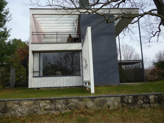 Gropius House living room and porch side picture of gropius house lincoln