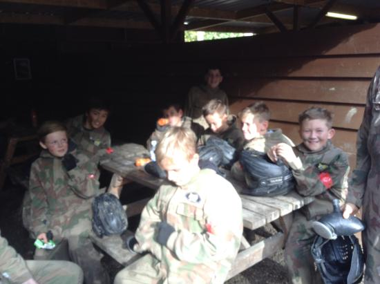 Delta Force Paintball: Chilling in between games