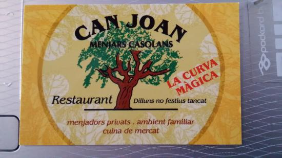 Can Joan: Targeta