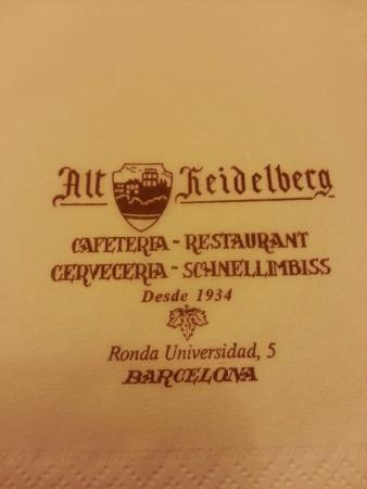 Alt Heidelberg: Datos