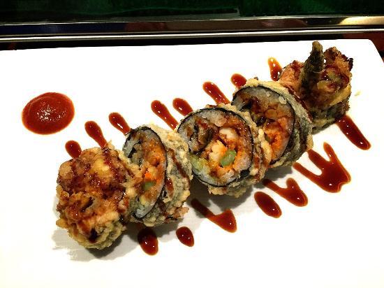 Mizuno Japanese Restaurant: 巻き寿司をフライにした Mizunoロール