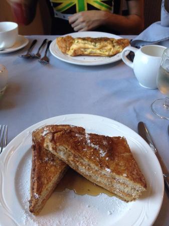 Apple Tree: Breakfast (french toast, omelette in background)