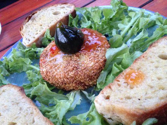 La Dolce Vita: Deep fried Camembert with a sesame crust yum!