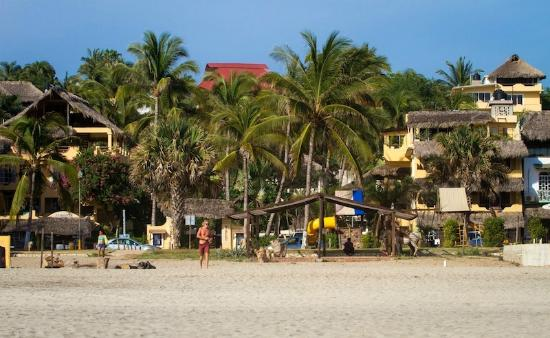 View At Beach Hotel Ines From Zicatela Beach Picture Of