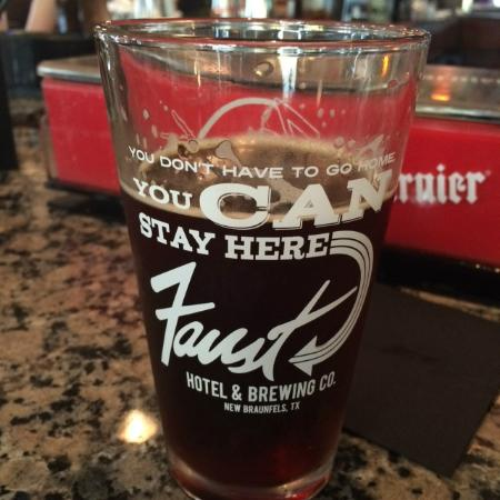 The Faust Brewing Company: Pint glass of the Faust Octoberfest