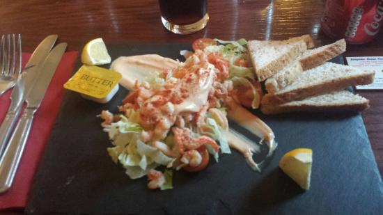 Crusoe Hotel: My sea food started. Beautifully fresh and very well presented.