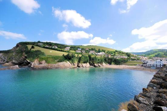 Combe Martin Beach Holiday Park: view from caravan park well just outside