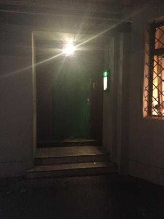Green Door: Obviously the entrance