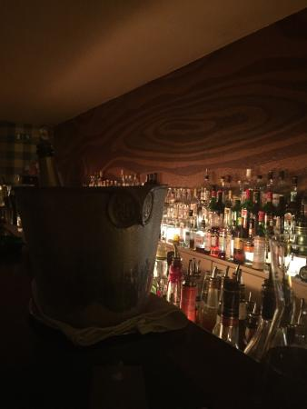 Green Door: Champagne bucket and a shot of the bar