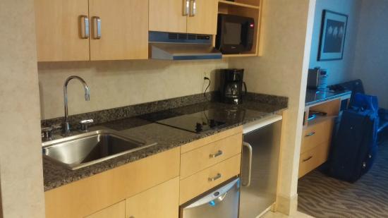 La Sammana Resort: kitchen area...no freezer, just a fridge
