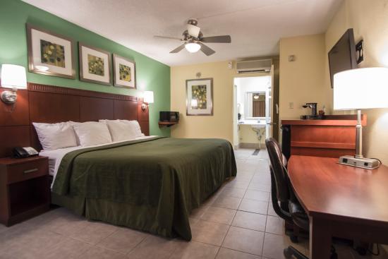 Quality Inn & Suites Hollywood Boulevard: The king suite at Quality Inn and Suites Hollywood Boulevard