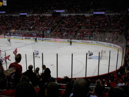 Section 104 Row 14 Picture Of Joe Louis Arena Detroit Tripadvisor