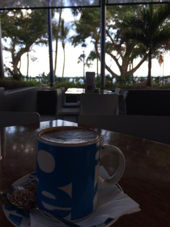 Capers on the Esplanade: Relaxing view for morning coffee