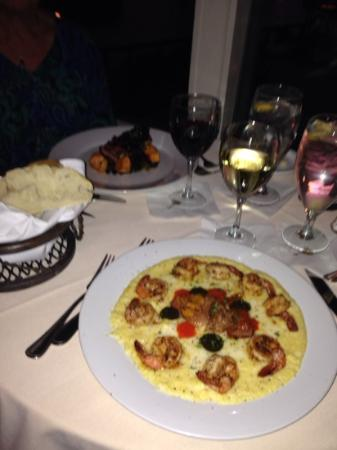 Sunset Grille: shrimp and Grits, Duck Breasts