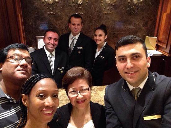 Almira Hotel : Selfie with the ever so charming hotel staff.