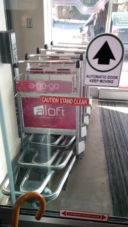 Aloft Chapel Hill: more luggage carts per capita than a 5 star NYC hotel