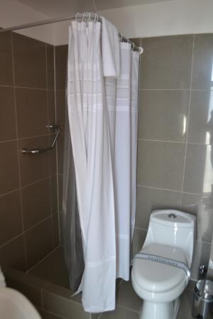 Apart Hotel Quillango: Bathroom and Shower
