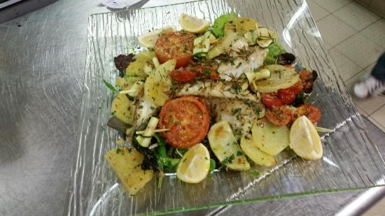 Osteria del Girasole: Coda di rospo con verdure gratinate eccezionale!!!