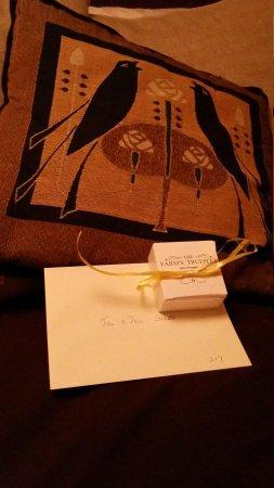 Settlers Inn: welcome gift