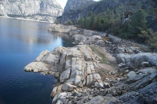 Hetch Hetchy Reservoir: right shore, or 1st you see from approach
