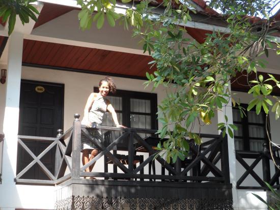 Vientiane Garden Hotel: Relaxing on the balcony